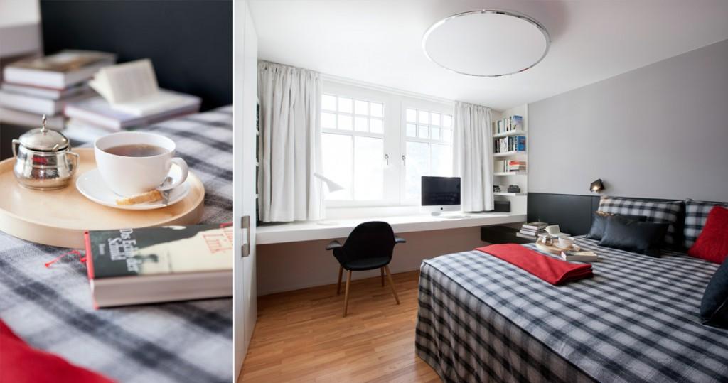 Schlaf- und Arbeitszimmer Ferienwohnung Herma