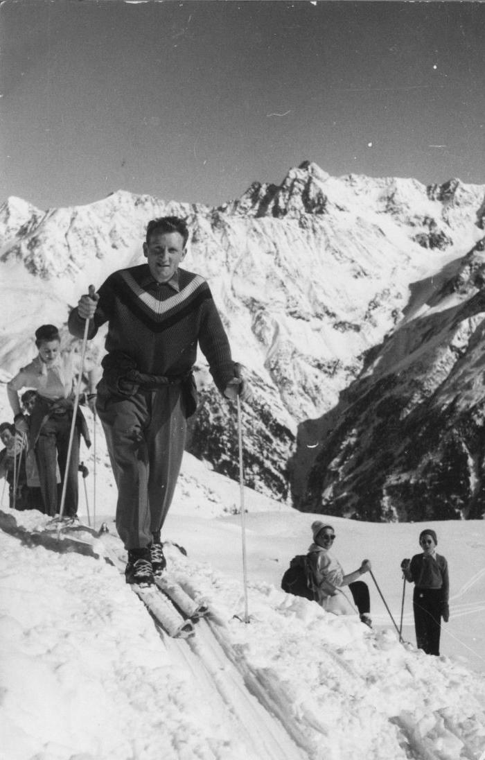 Tourenski 50-er Jahre Bregenzerwald