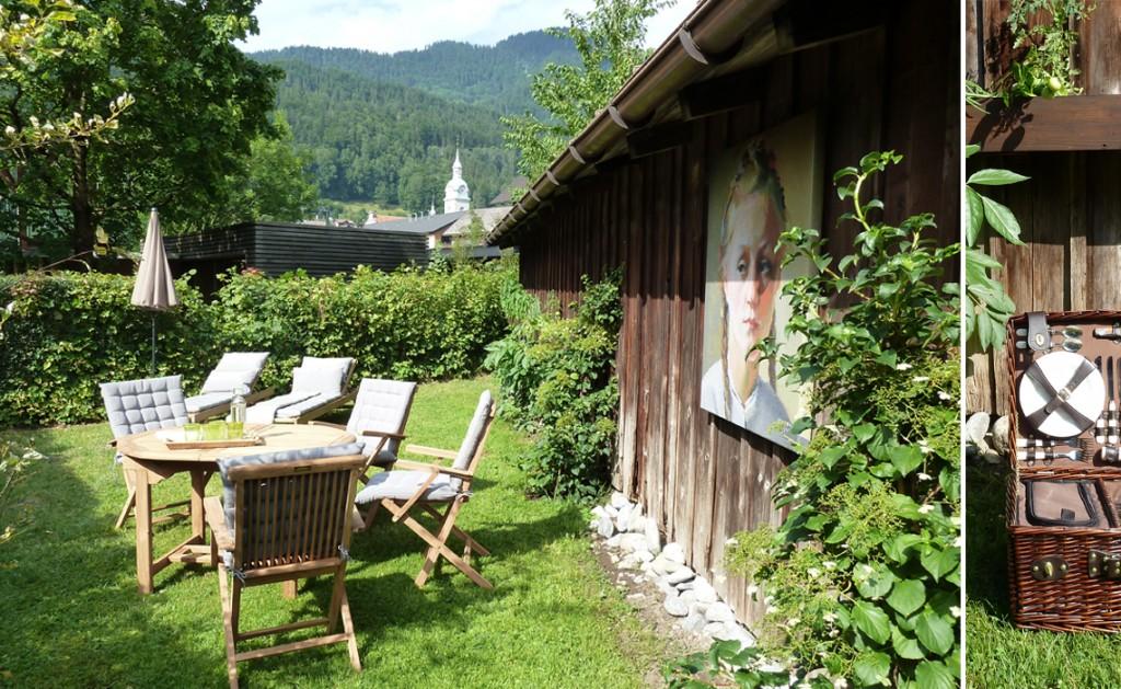 Erholung im Garten der Ferienwohnungen